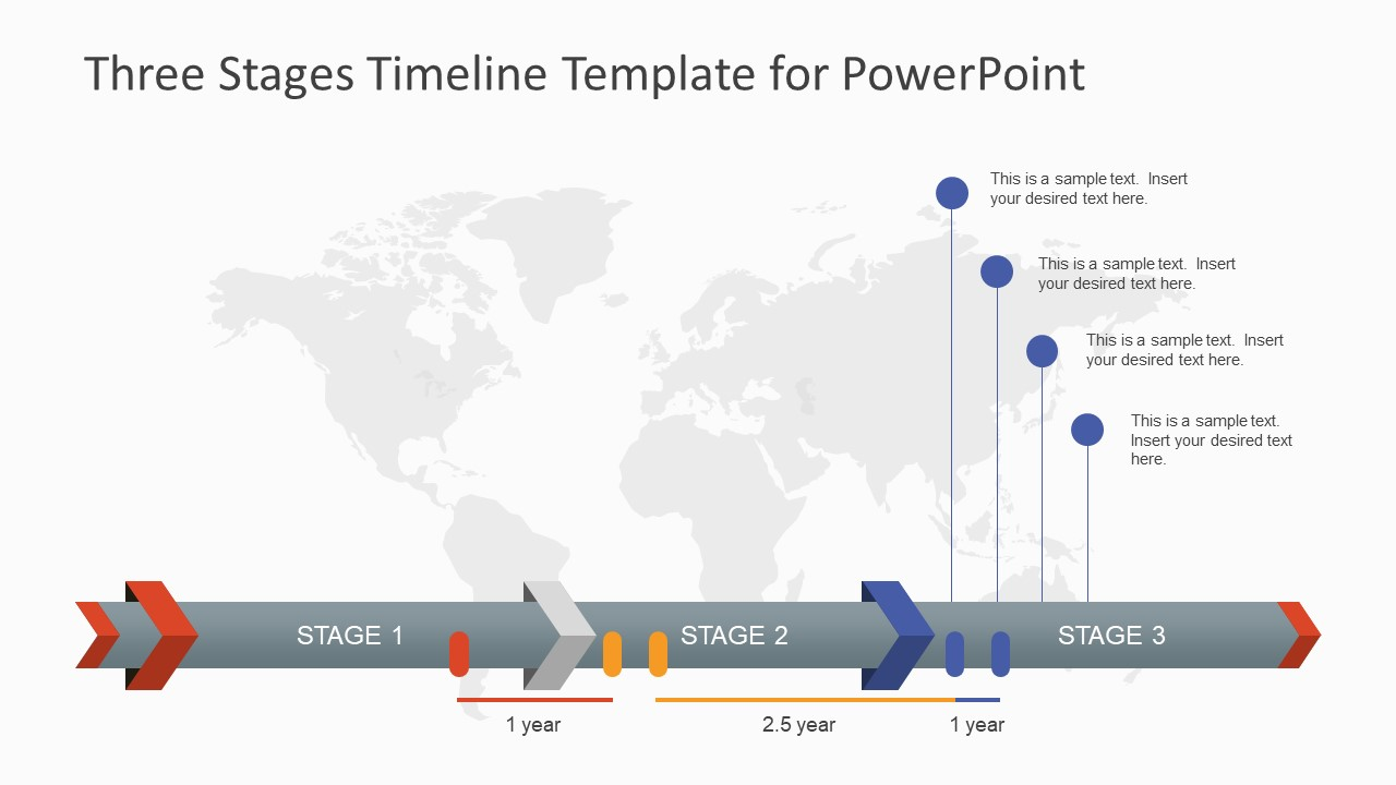Three stages timeline template for powerpoint slidemodel timeline presentation powerpoint tool toneelgroepblik Gallery