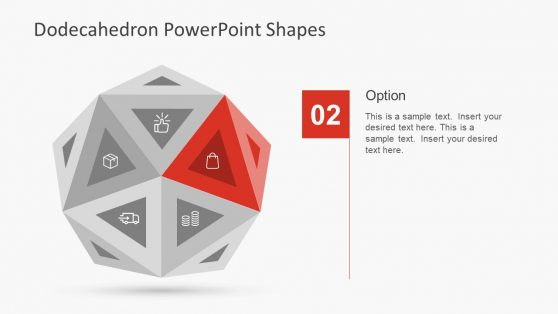 Editable PowerPoint Shapes Dodecahedron