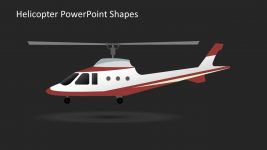 Helicopter PowerPoint Shape Slide
