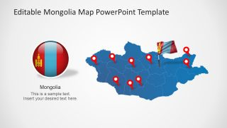 Mongolia Map PowerPoint Template