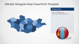 PowerPoint Map Outline PPT