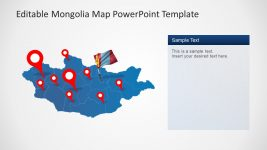 Provincial Outline Map of Mongolia