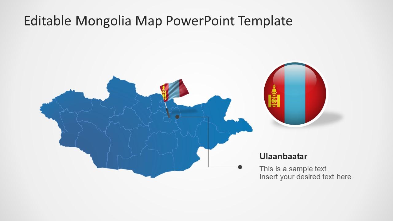 Mongolia Flag Icon Capital City