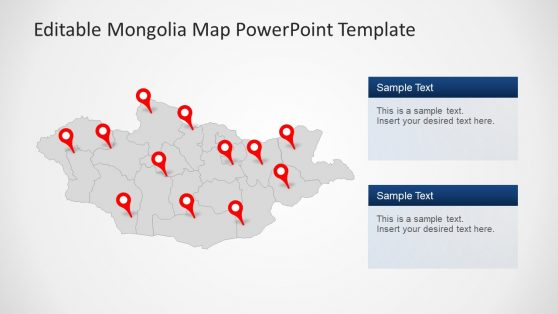 Location Pin Pointers PowerPoint