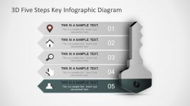 Editable 5 Step Concept Diagram Template