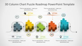 PowerPoint 3D Puzzle Roadmap