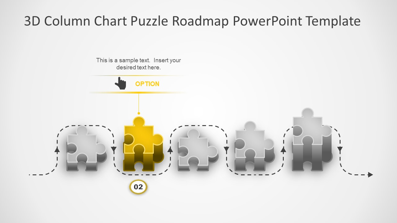 Flat Vector Infographic Icons 3D Roadmap