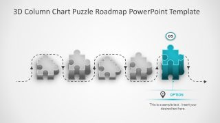 3D Puzzle Shape Roadmap Timeline PPT