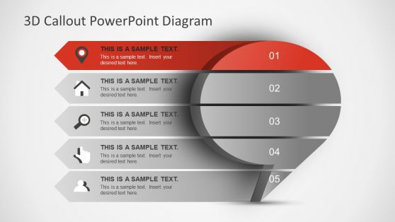 PowerPoint Template of 3D Callout Box