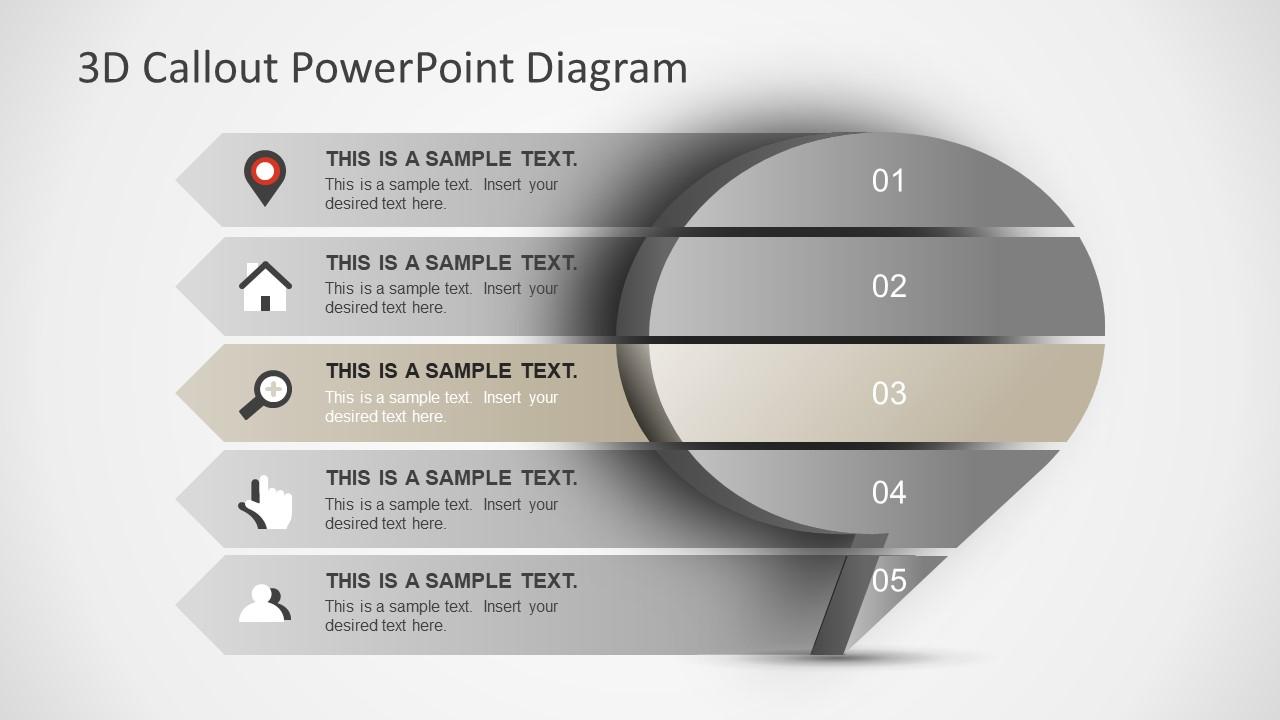 Speech Bubble 3D Shape in PowerPoint