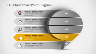 3D PowerPoint Diagram with Infographics