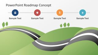 Roadmap City Map PowerPoint Theme
