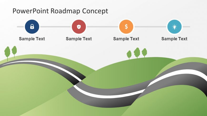 PowerPoint Roadmap City Map Slide