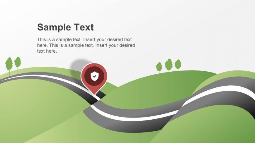 3d roadmap timeline city map slidemodel