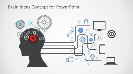 Gears Design for Ideas Concept in PowerPoint