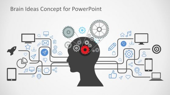 Brain Ideas Concept in PowerPoint