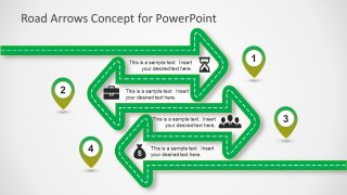 Road Arrows Concept for PowerPoint Slide