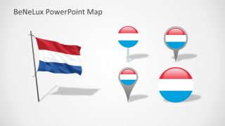 PowerPoint Shape Icons of Luxembourg Flag