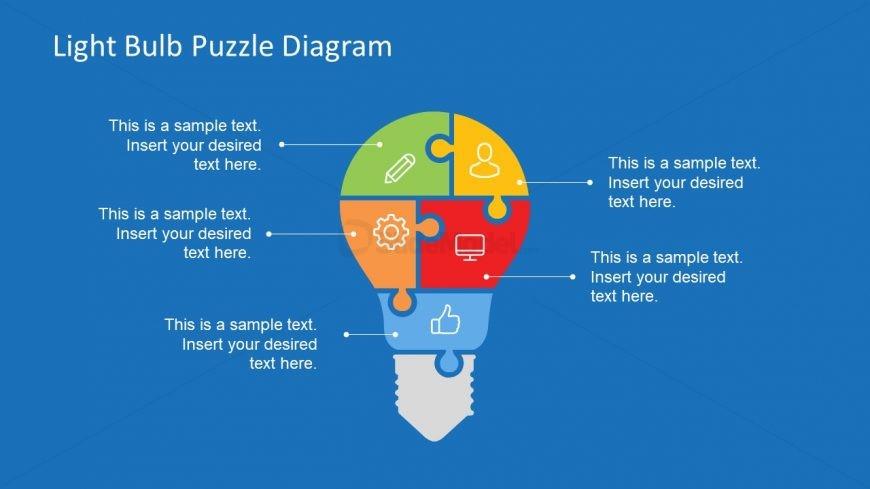 5 Segment Light Bulb Puzzle Diagram
