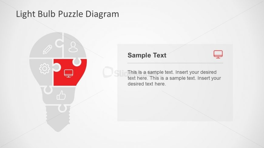 PowerPoint Shape of Bulb Puzzle