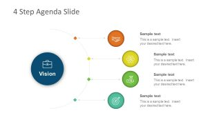 4 Steps Agenda Vision Slide for PowerPoint