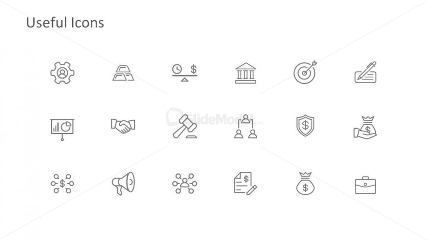 Editable PowerPoint Flat Infographic Icons