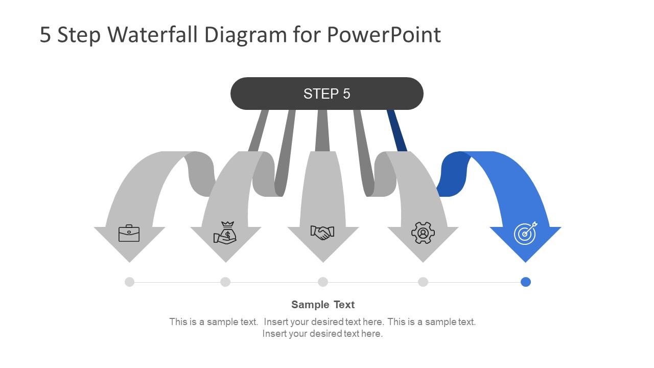 Arrow Shape Process Flow Diagram