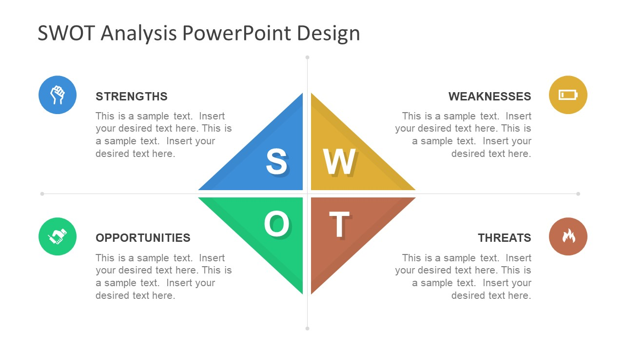 diamond swot powerpoint template slidemodel