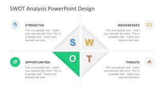 Diamond SWOT PowerPoint Template Opportunities