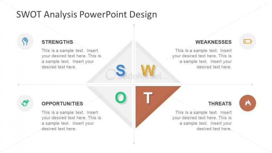 PowerPoint Diamond Shape Template SWOT Threats
