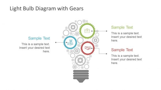 Gear Shapes in Light Bulb Template