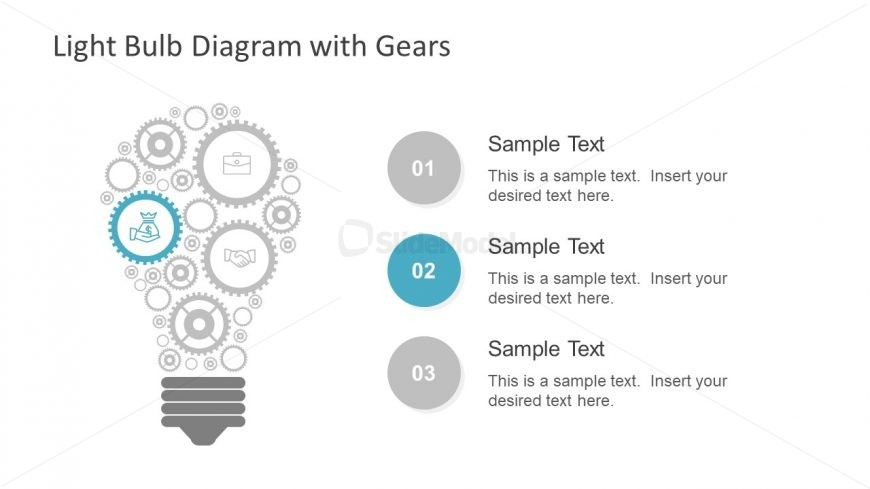 Bullet List Text Placeholders for Diagram