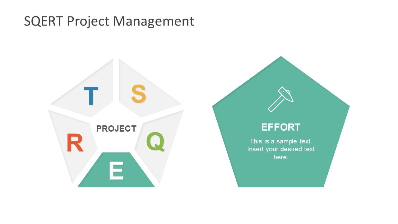 Pentagon Shape of PowerPoint for SQERT