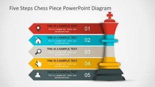 Five Steps Chess Piece PowerPoint Diagram