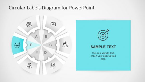 Circular Labels Six Step PowerPoint Template