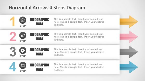 Infographic Slide of 4 Step Diagram