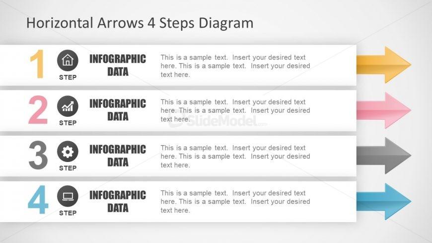 Infographic Slide of 4 Step Diagram
