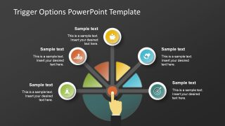 Black Background Trigger Option PowerPoint