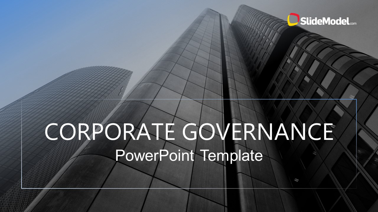 PowerPoint Cover Slide of Corporate Governance