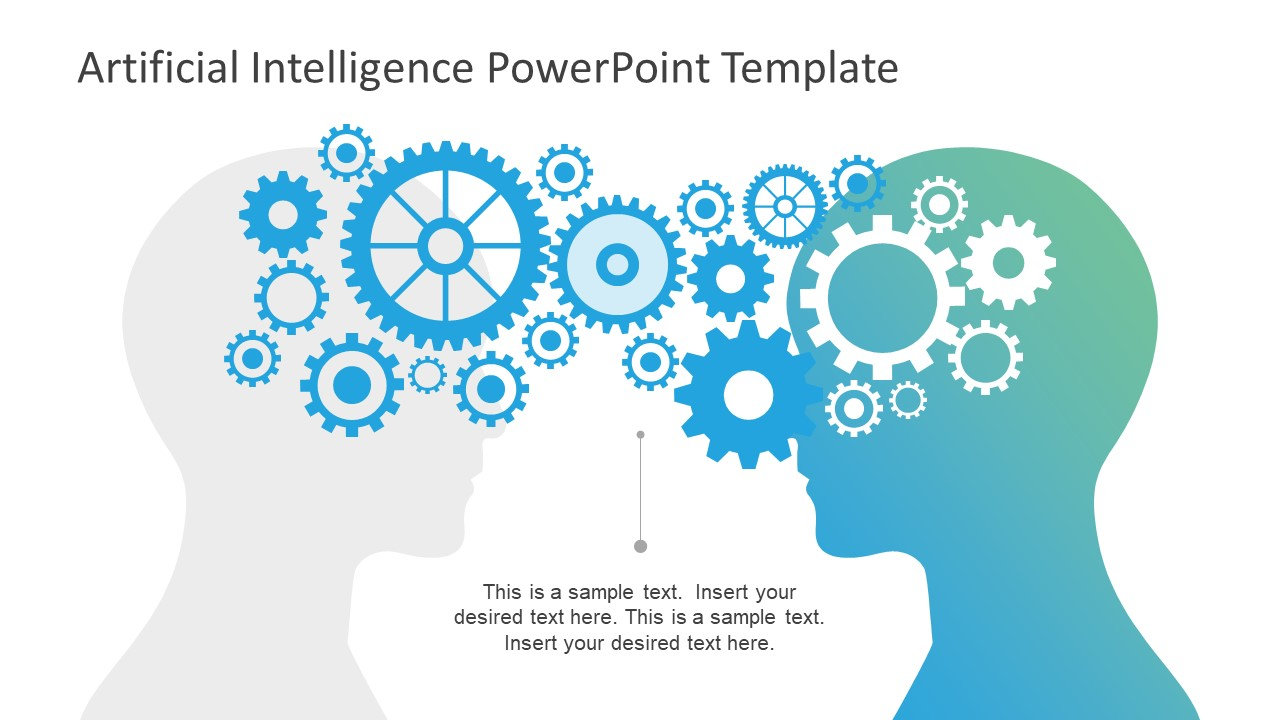 Artificial intelligence powerpoint template slidemodel artificial intelligence powerpoint template abstract brain shape of powerpoint slide of human thinking process shapes toneelgroepblik Gallery