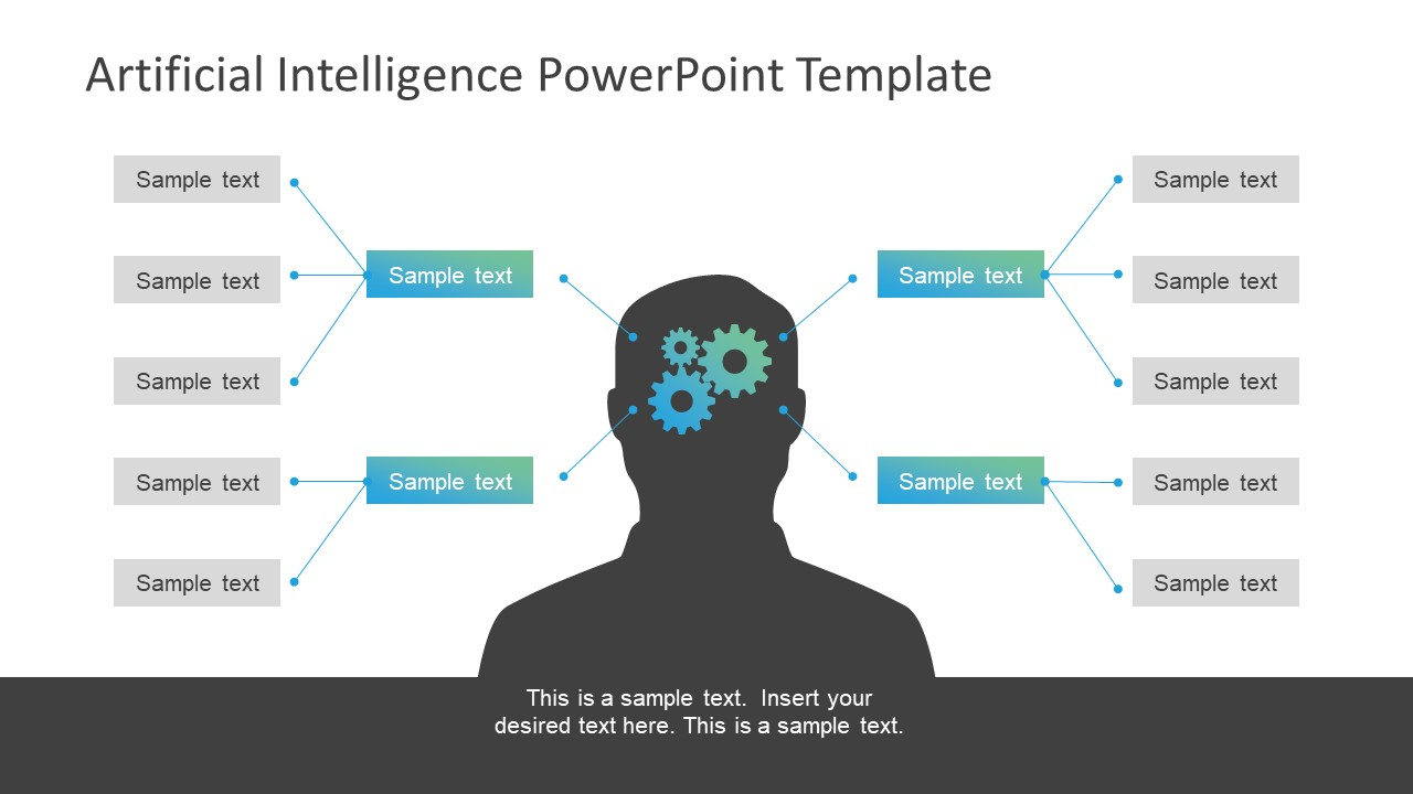 Artificial intelligence powerpoint template slidemodel powerpoint decision nodes and human silhouette template mind activity icons template simple icons presenting artificial intelligence toneelgroepblik
