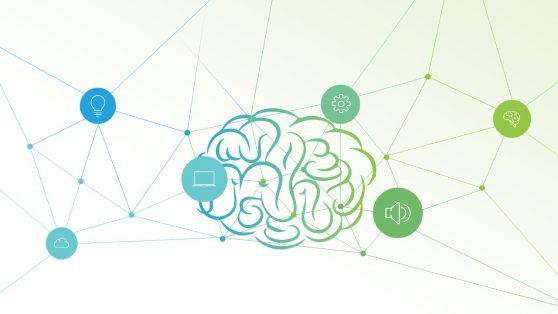 Presentation of Brain Concept Slide Connecting Nodes
