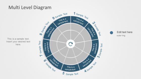 Level and Segment Circular Diagram Template