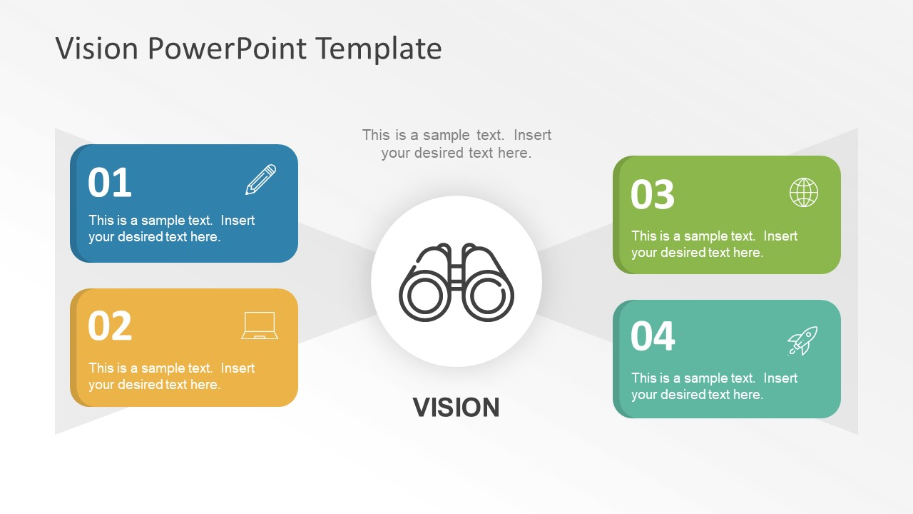 Flat vision statement powerpoint graphics slidemodel for Vision statement template free