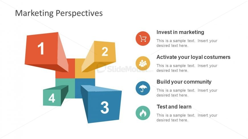 3D Diagram of Market Analysis Template