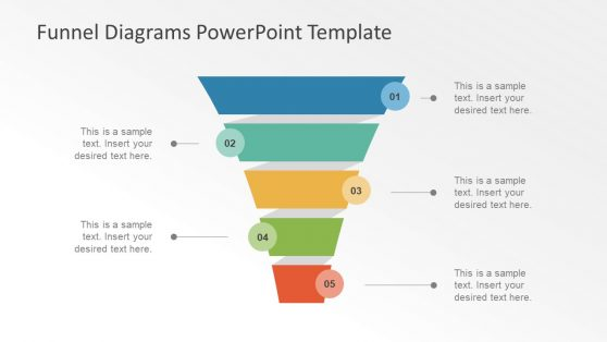 4 Step Funnel Diagram Vector Design