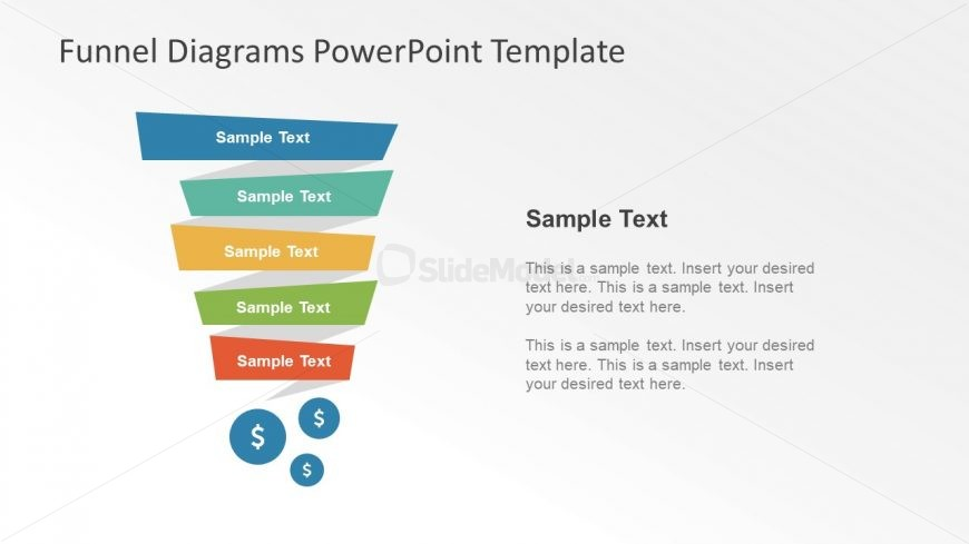 Colorful Shape of Funnel Diagram Template