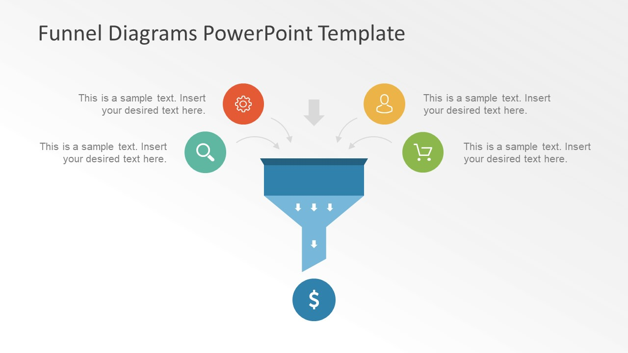 Two Way Easy Funnel PowerPoint