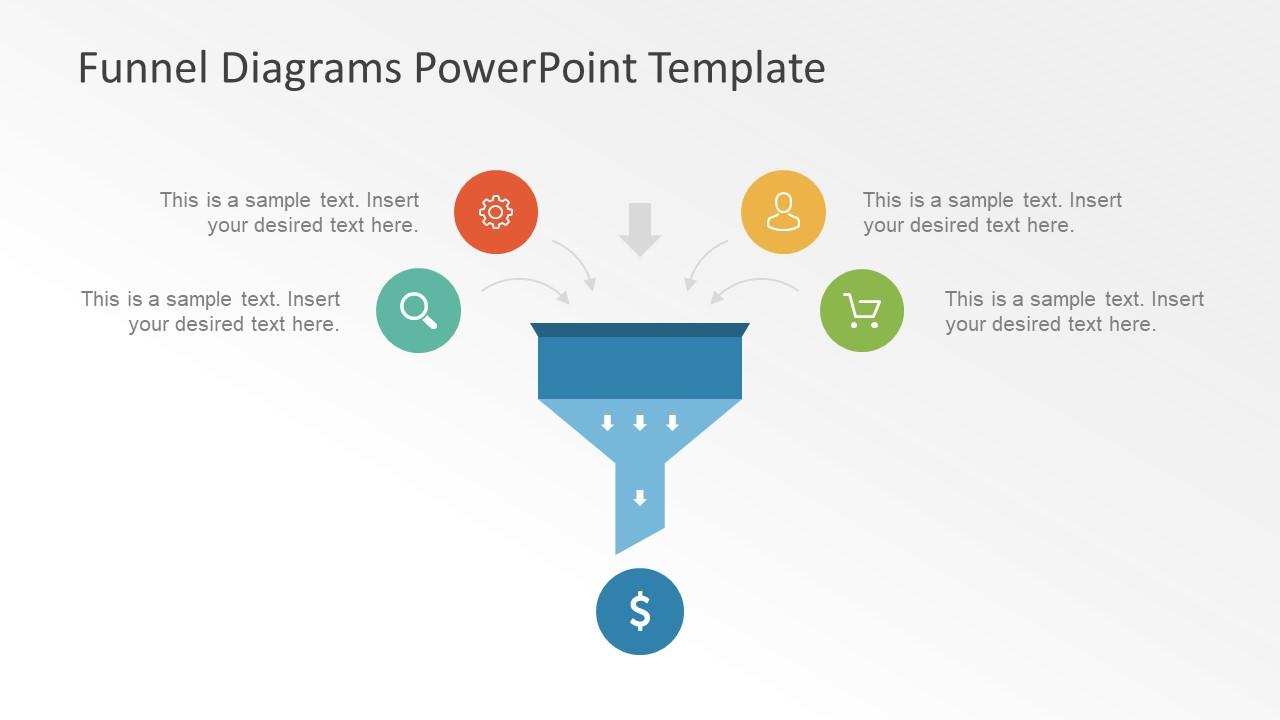 Diagram funnel diagram powerpoint template : Icons Input in Funnel Diagram Presentation - SlideModel