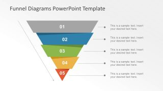 Five Step PowerPoint Funnel Chart